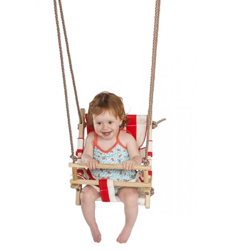 Dziecko na leżaczku - huśtawka z płótna
