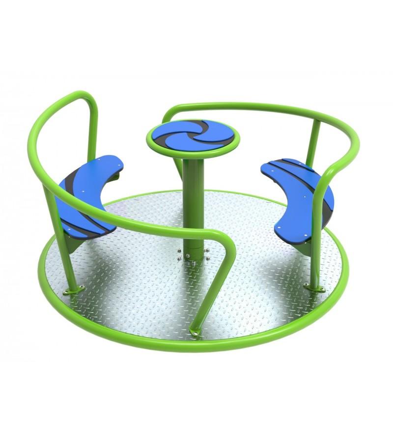 Karuzela na plac zabaw Viento - siedzieska z HDPE