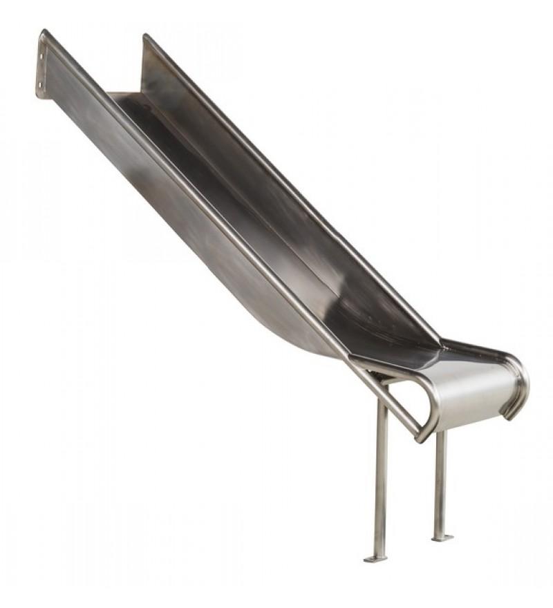 Zjeżdżalnia ze stali nierdzewnej 2,7m Steg - 1500mm