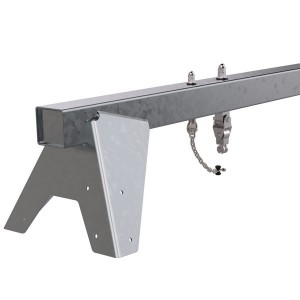 Metalowa belka huśtawki na plac zabaw - 2 zawiesia