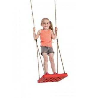 Dziewczynka na huśtawce foot swing