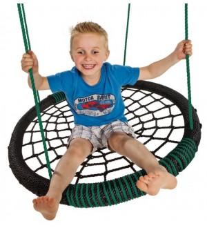 Bocianie gniazdo oval zielone z dzieckiem