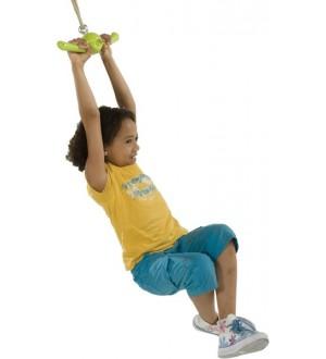 Huśtawka ventolino z bawiącym się dzieckiem