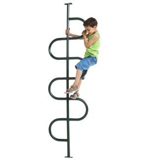 Metalowy drążek spiralny do wspinania z dzieckiem
