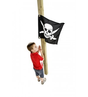 Flaga na plac zabaw pirat z dzieckiem