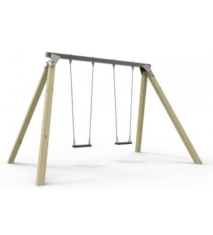 Metalowa belka huśtawki na plac zabaw - 4 zawiesia