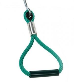 Uchwyt podwieszany z liny zbrojonej na plac zabaw