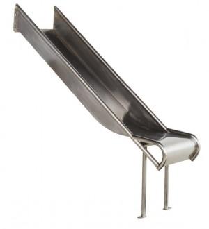 Zjeżdżalnia ze stali nierdzewnej 2,1m Steg - 1000mm