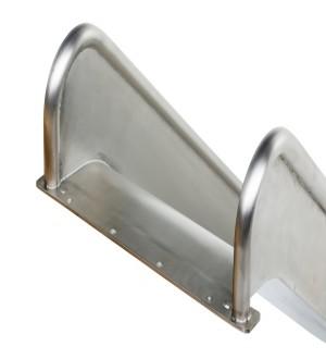 Zjeżdżalnia ze stali nierdzewnej 3,7m Steg On - 2000mm