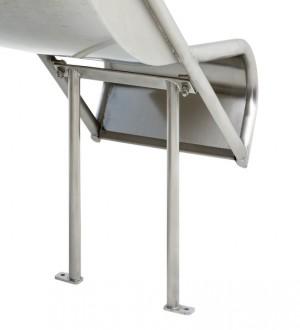Zjeżdżalnia ze stali nierdzewnej 2,4m Steg On - 1250mm