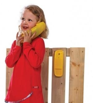 Telefon na plac zabaw wydający dźwięki