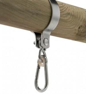 Obejma metalowa okrągła do huśtawek 100mm lub 120mm