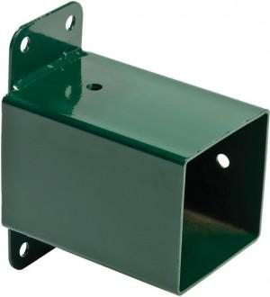 Zamontowany łącznik na kantówce 9x9cm - cowboykid.pl