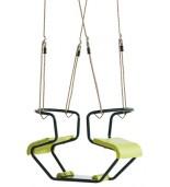 Huśtawka metalowa dwuosobowa zielona- cała huśtawka