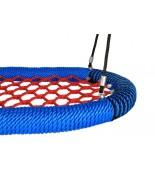 Bocianie gniazdo oval pro siatka czerwona / oplot niebieski