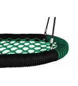 Bocianie gniazdo oval pro 120 Siatka zielona / oplot czarny