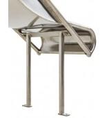 Zjeżdżalnia ze stali nierdzewnej 2,3m Steg - 1250mm