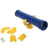 Teleskop na plac zabaw niebiesko żółty