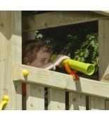 Teleskop na plac zabaw zielona limonka-pomarańczńcza na wieży