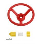 Kierownica na plac zabaw czerwona z klaksonem