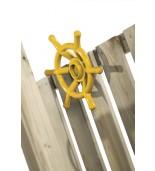 Ster na plac zabaw żółty zamontowany