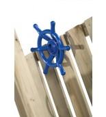 Ster na plac zabaw niebieski zamontowany