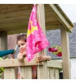 Flaga księżniczka na placu zabaw