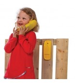 Telefon na plac zabaw - żółty