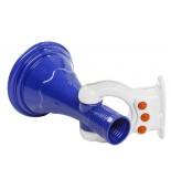 Megafon na plac zabaw niebiesko biały