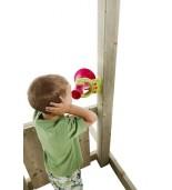 Megafon wrzos zielona limonka z dzieckiem