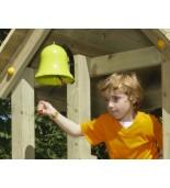 Dzwon zielone jabłuszko na placu zabaw