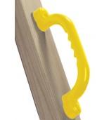 Uchwyty żółte zamontowane