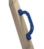 Uchwyty niebieskie zamontowane