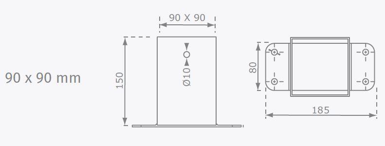 Łącznik do belki kwadratowej