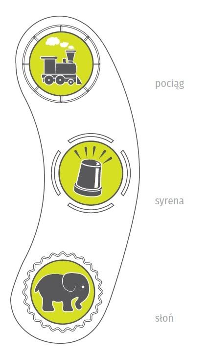 Wydawane dźwięki megafonu na plac zabaw